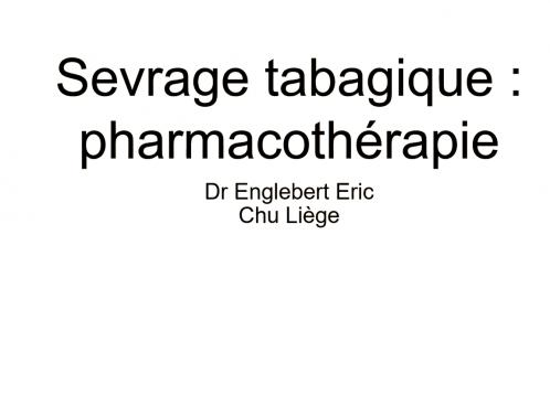 Pharmacothérapie (présentation avec commentaire audio)